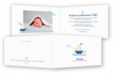 Taufe Einladungskarte · Boot