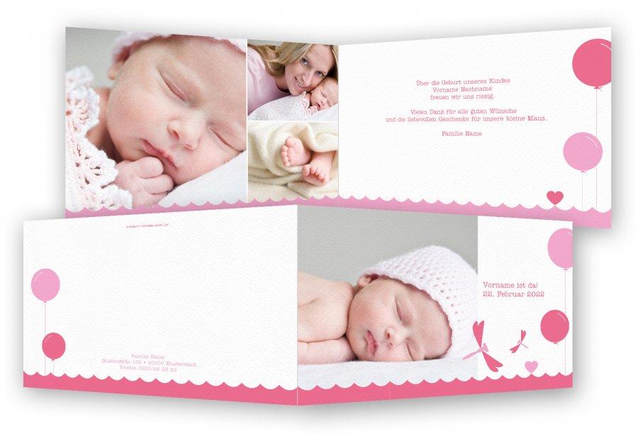 Danksagungskarten Zur Geburt Feinekarten Com