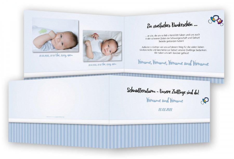 Geburtskarte Zwillinge Feinekartencom