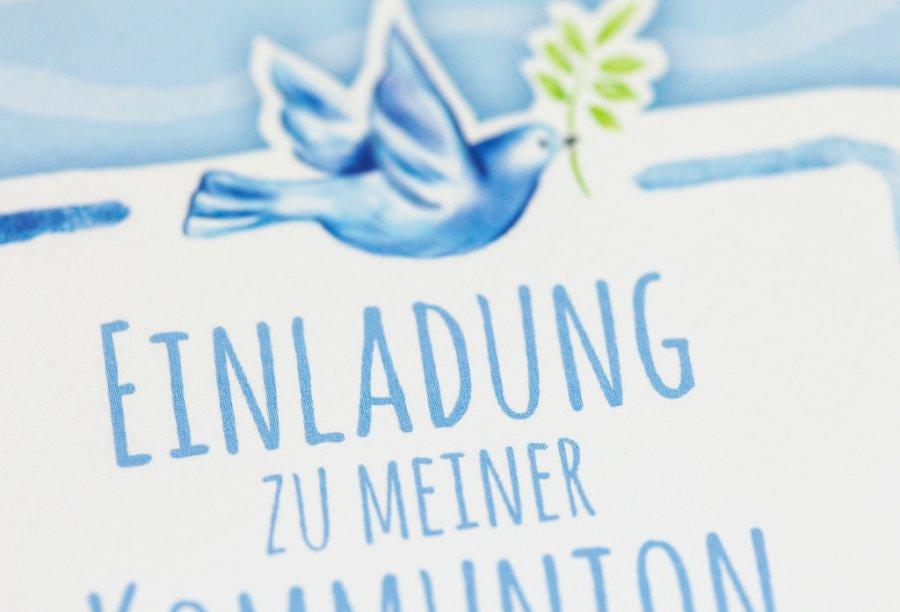 Einladungskarten Kommunion Bild