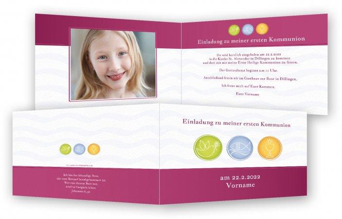kommunion einladungskarten | feinekarten, Kreative einladungen