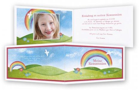 Einladungen Kommunion · Regenbogen Mit Bilder
