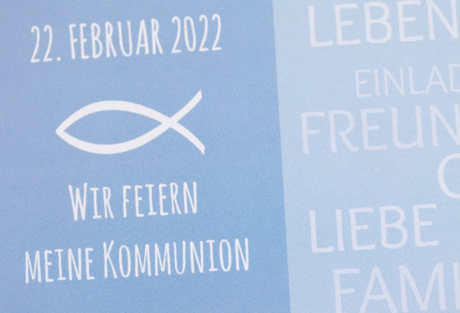 Kommunion Einladung | Feinekarten.com