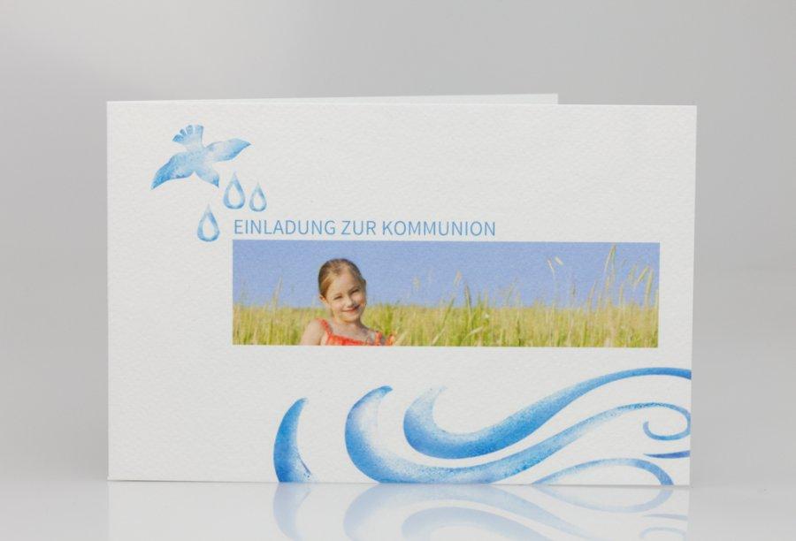 Einladungskarten Für Die Kommunion Bild