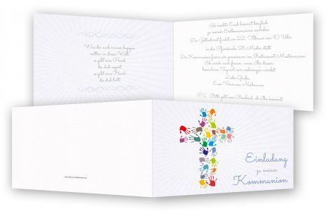Kommunion Einladungskarten Einladung Kommunion Feinekarten Com
