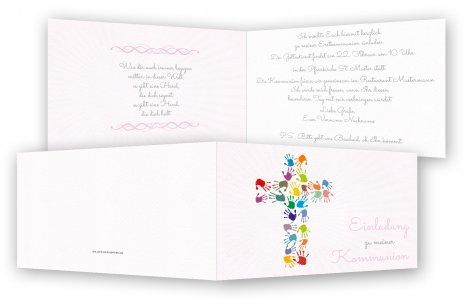 Kommunion Einladungskarten, Einladung Kommunion | Feinekarten.com