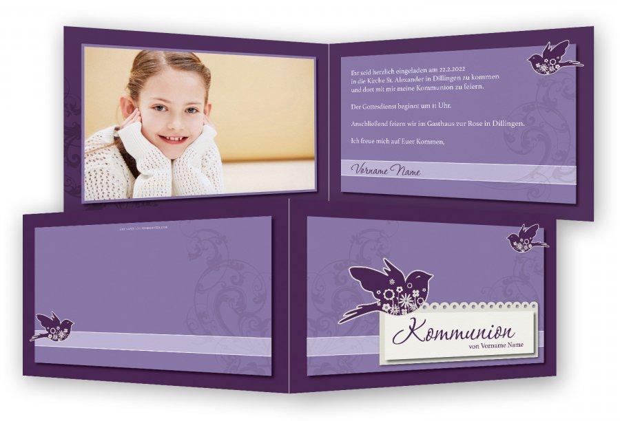 Erstkommunion Einladungskarten Vorlage