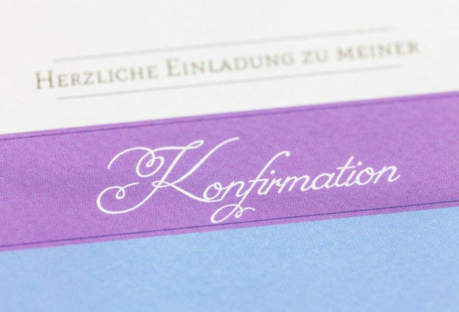 einladungen konfirmation | feinekarten, Einladung