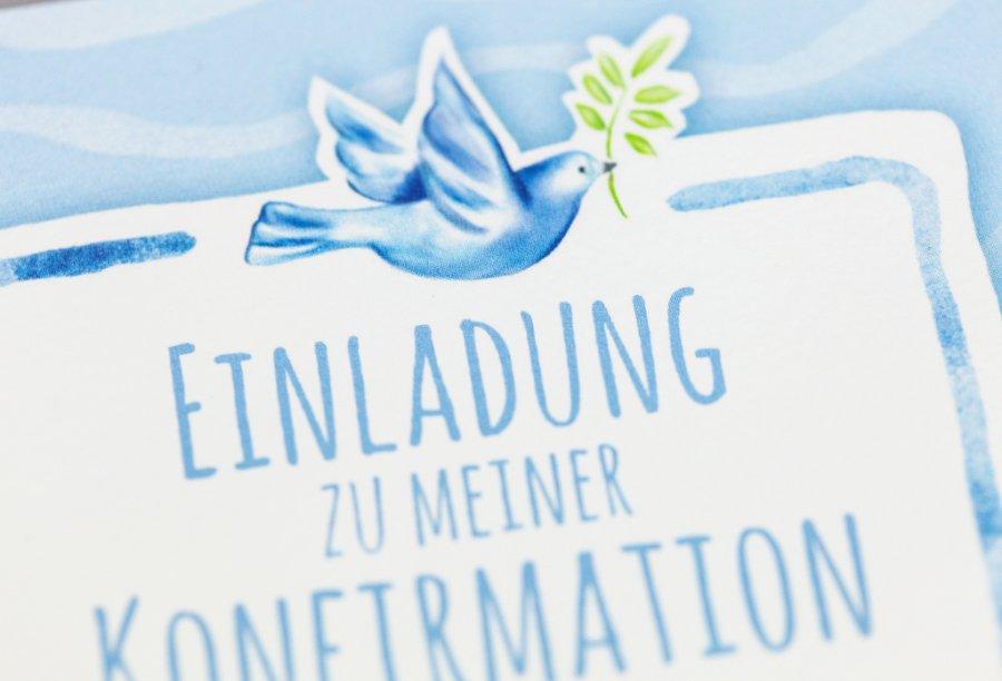 Einladungskarten Zur Konfirmation Bild