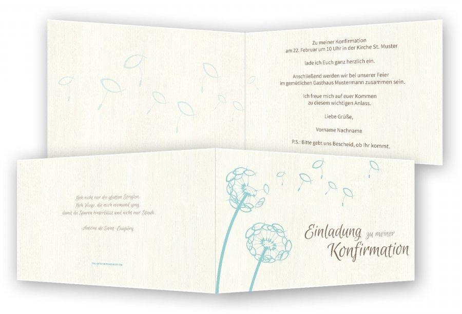 konfirmationseinladung | feinekarten, Einladungen