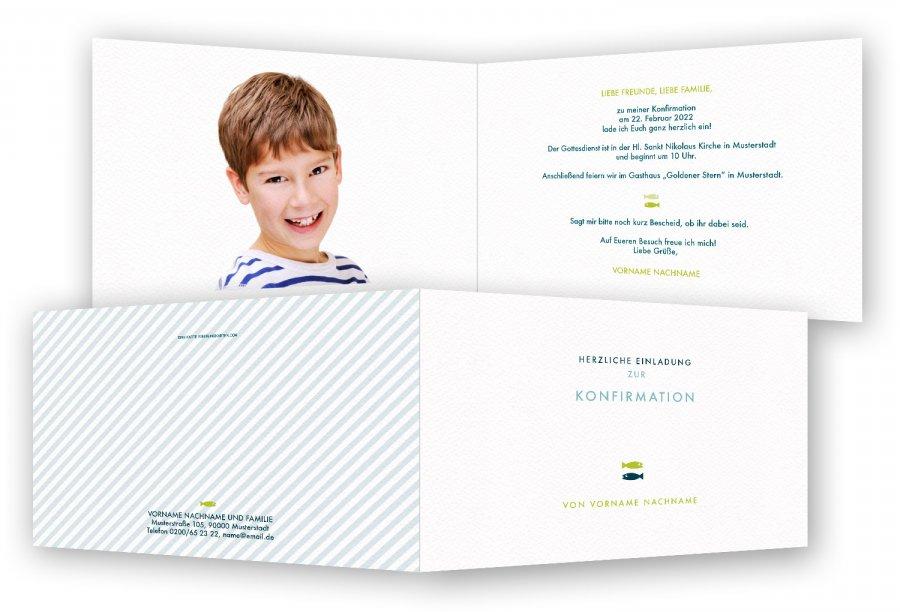 einladung zur konfirmation | feinekarten, Einladung
