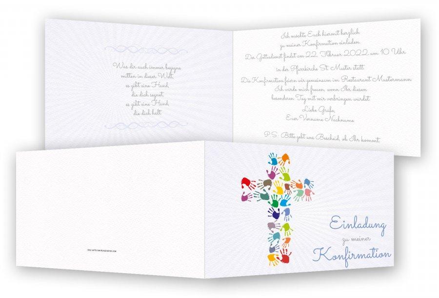 konfirmation einladungen   feinekarten, Einladungen