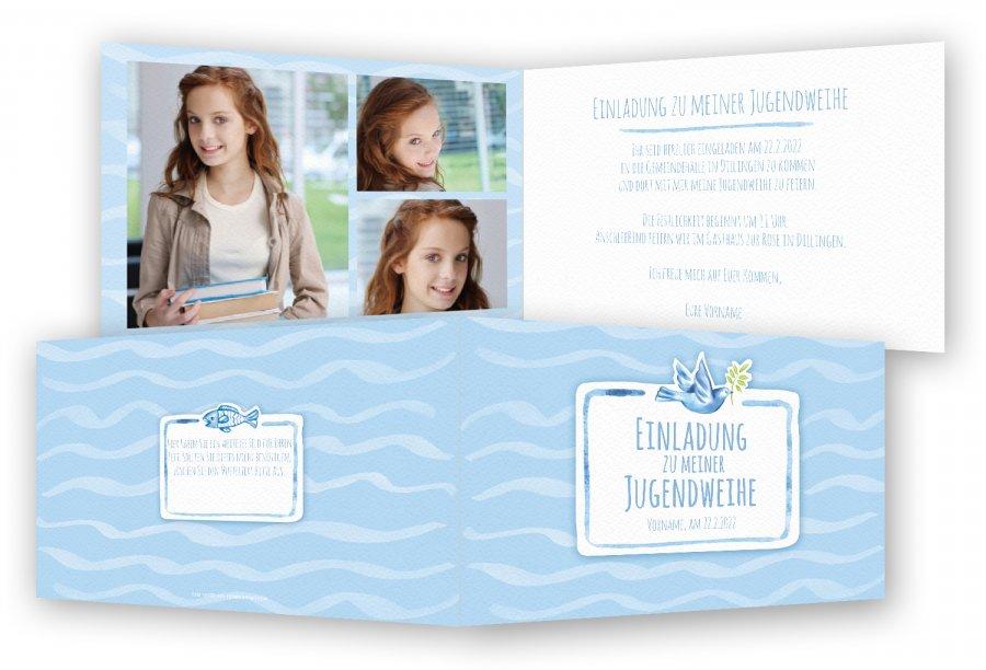 einladungskarten zur jugendweihe | feinekarten, Einladungsentwurf