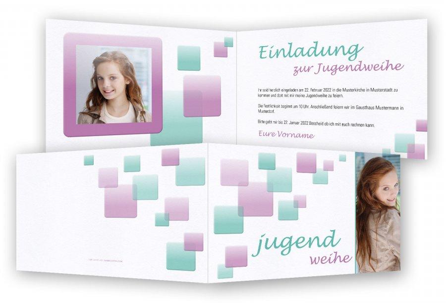 Einladungskarten Einladungskarten Jugendweihe: Einladungskarte Zur Jugendweihe