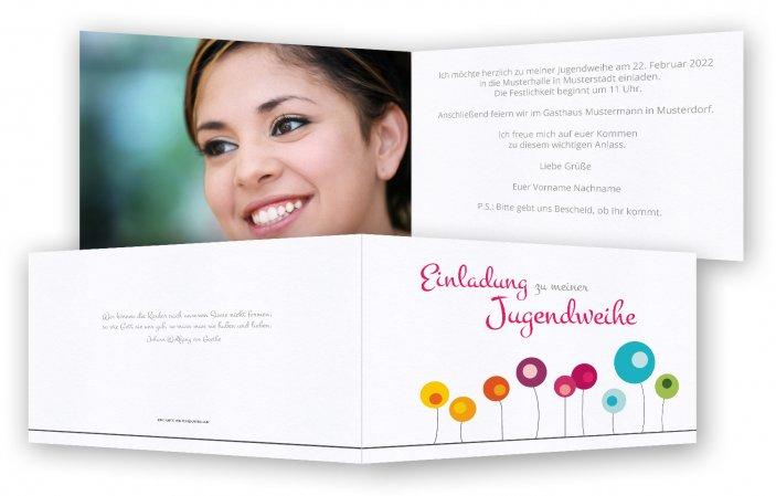 Einladungskarten Jugendweihe Selbst Gestalten: Jugendweihe Einladungskarte