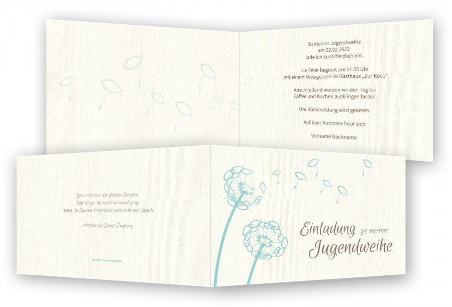 jugendweihe einladungskarten | feinekarten, Einladung