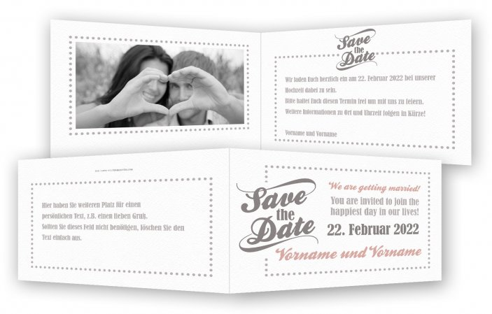 Save the date Karte, modern