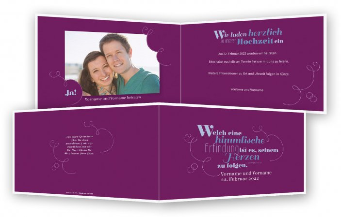 save-the-date-karten, Spruch