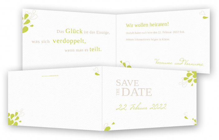 Save-the-date, Blütenblätter