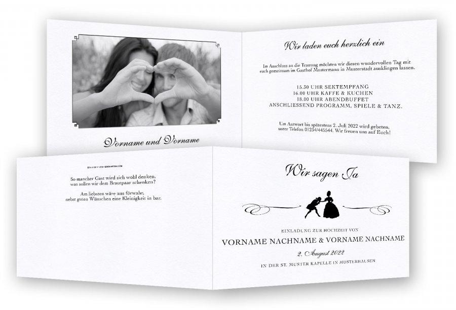 hochzeitseinladungen, einladungskarten hochzeit | feinekarten, Einladungsentwurf