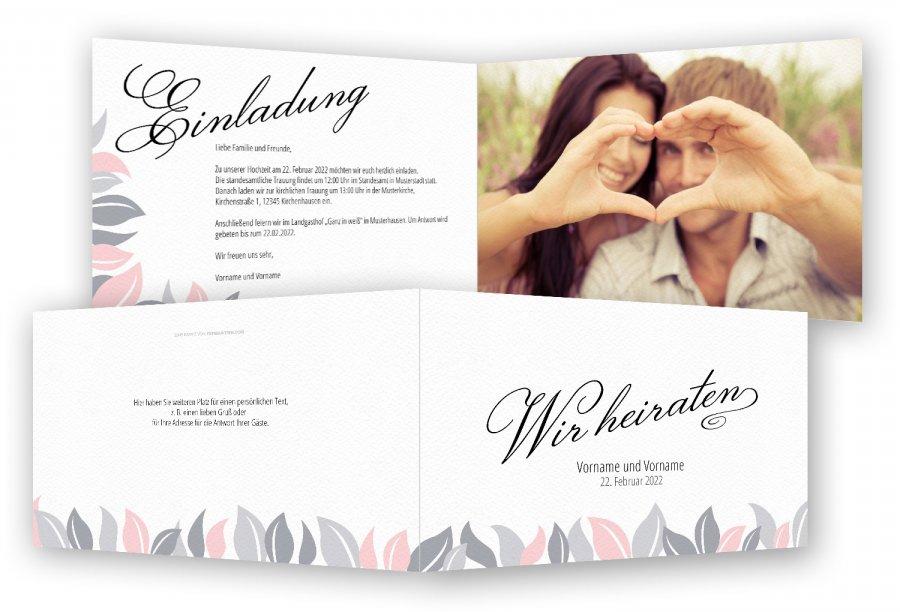 Vorlage Hochzeitseinladungen | Feinekarten.com