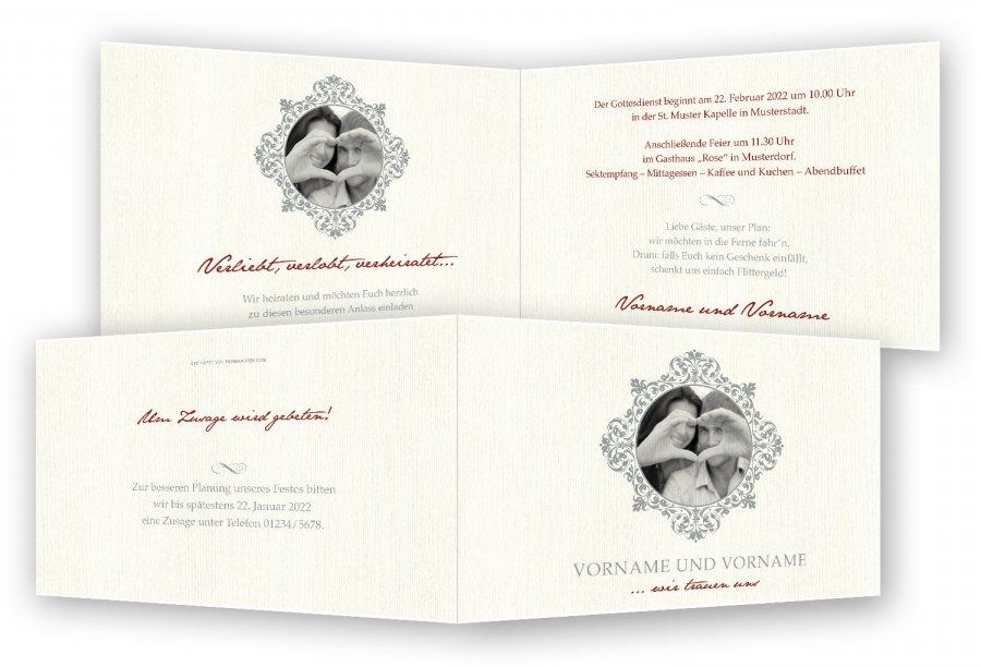 Hochzeit Einladungskarten, Bilderrahmen