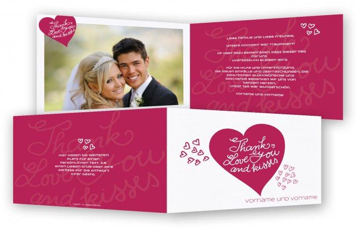 Danksagungskarten Hochzeit Günstig