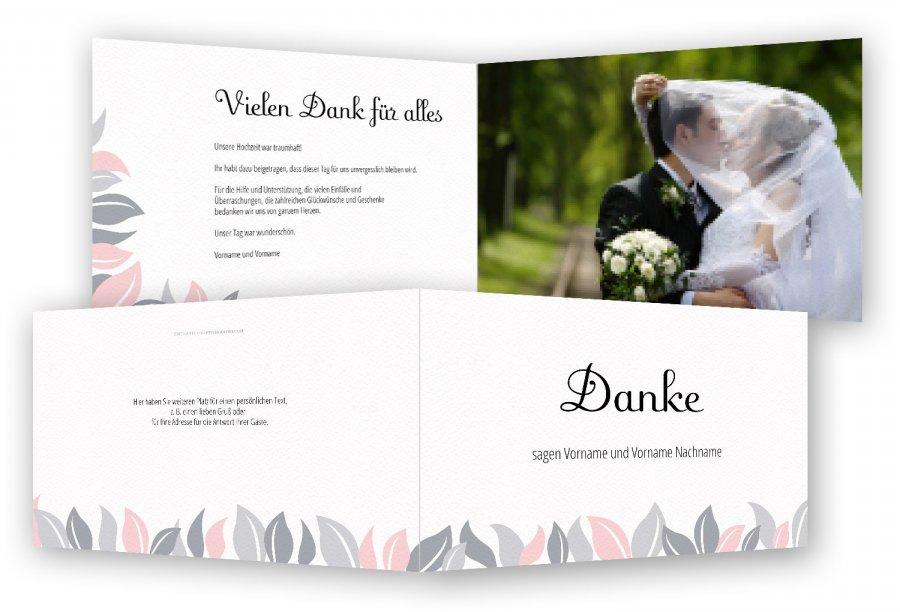Vorlage Hochzeit Danksagung | Feinekarten.com