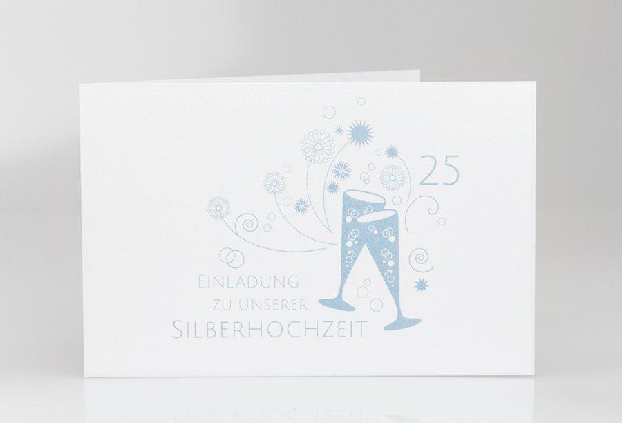 Einladungskarten Silberhochzeit Bild