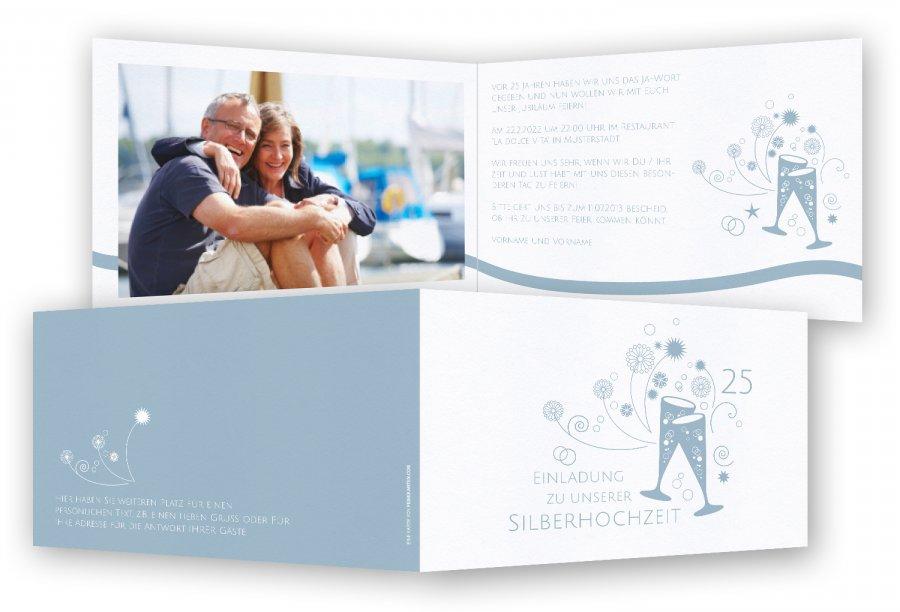 Einladungskarten silberhochzeit - Ideen zur silberhochzeit ...