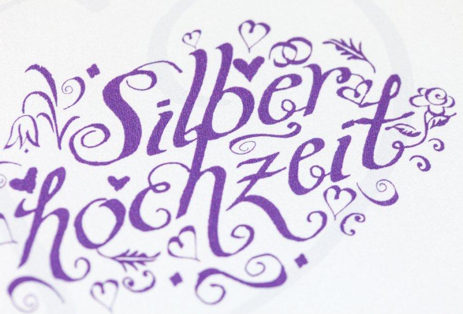 einladung silberhochzeit | feinekarten, Einladung