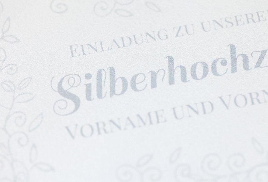 Silberhochzeit Einladungskarten Feinekarten Com