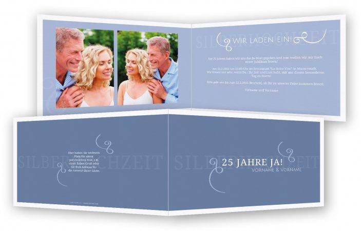 Einladungskarten Silberhochzeit Einladungskarten: Einladung Zur Silberhochzeit