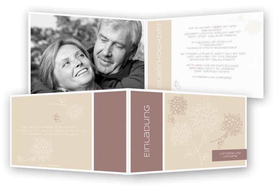 silberhochzeit einladungskarten | feinekarten, Einladung
