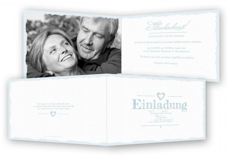 Einladungen zur Silberhochzeit | Feinekarten.com