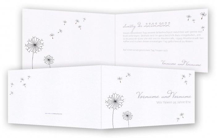 Einladungskarten Silberhochzeit Einladungskarten: Einladungskarten Silberhochzeit Vorlage