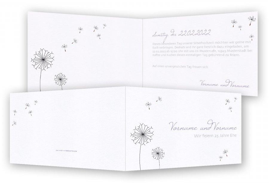 Einladungskarten Silberhochzeit Vorlage