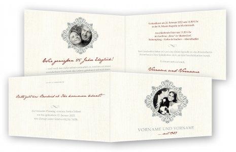 Einladung silberhochzeit einladungskarten - Silberhochzeit einladung ...