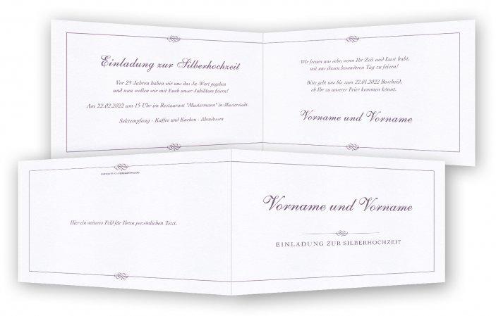 Silberhochzeit Einladungskarte Vorlage