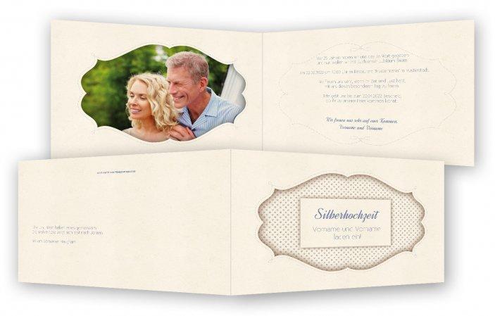 Silberhochzeit einladungskarten vorlage - Silberhochzeit einladung ...