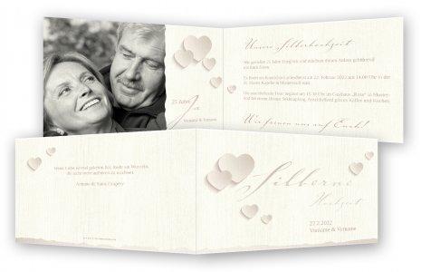 Silberne Hochzeit Einladungskarten Gestalten