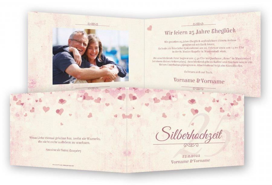 einladungskarten silberhochzeit texte – pixelwarfare, Einladung