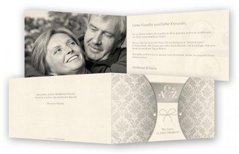 Vorlage Silberne Hochzeit Einladungen