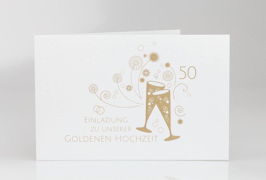 einladung goldene hochzeit | feinekarten, Einladung