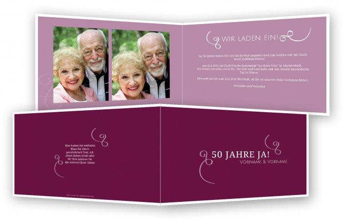 Einladungskarten Goldene Hochzeit Selbst Gestalten Feinekartencom