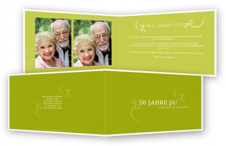 goldene hochzeit einladung einladungskarten. Black Bedroom Furniture Sets. Home Design Ideas