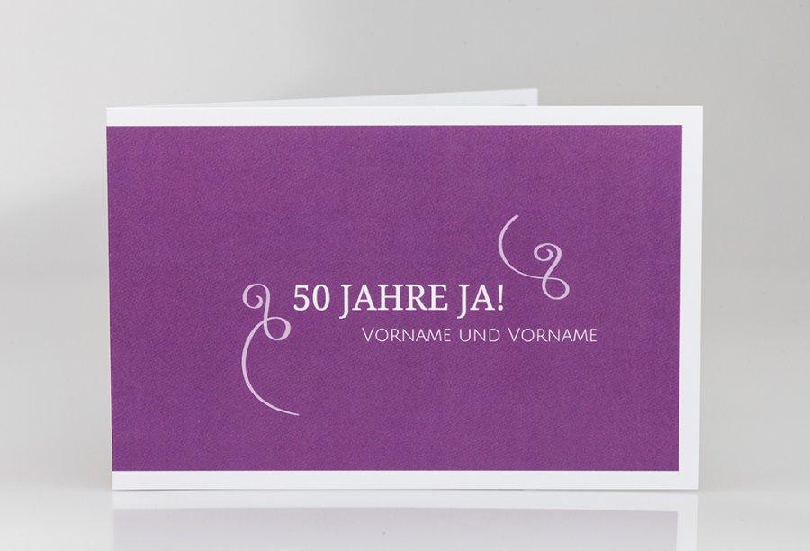 Einladungskarten Goldene Hochzeit Bild