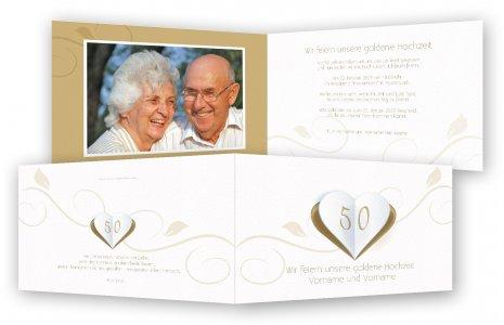 Goldene Hochzeit Einladung, Einladungskarten | Feinekarten.com