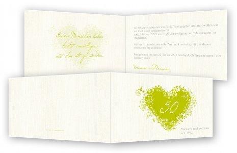 Goldene Hochzeit Einladung Einladungskarten Feinekartencom