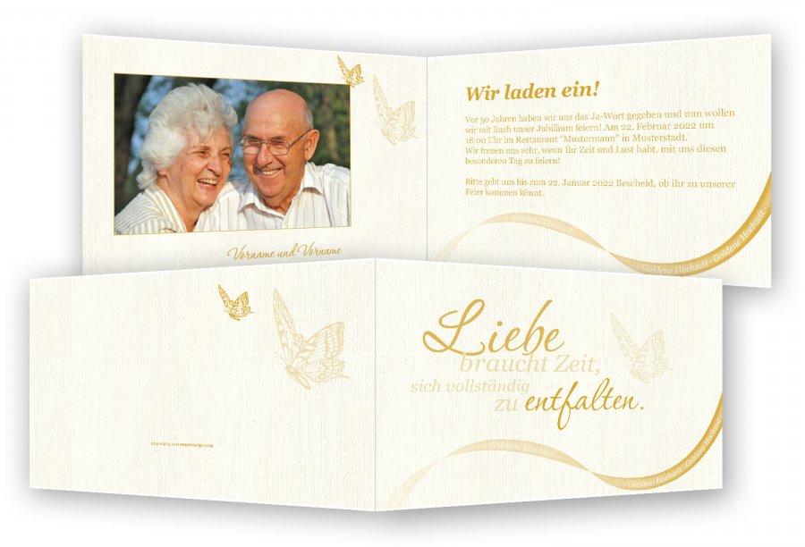 Einladung Goldene Hochzeit Vorlage